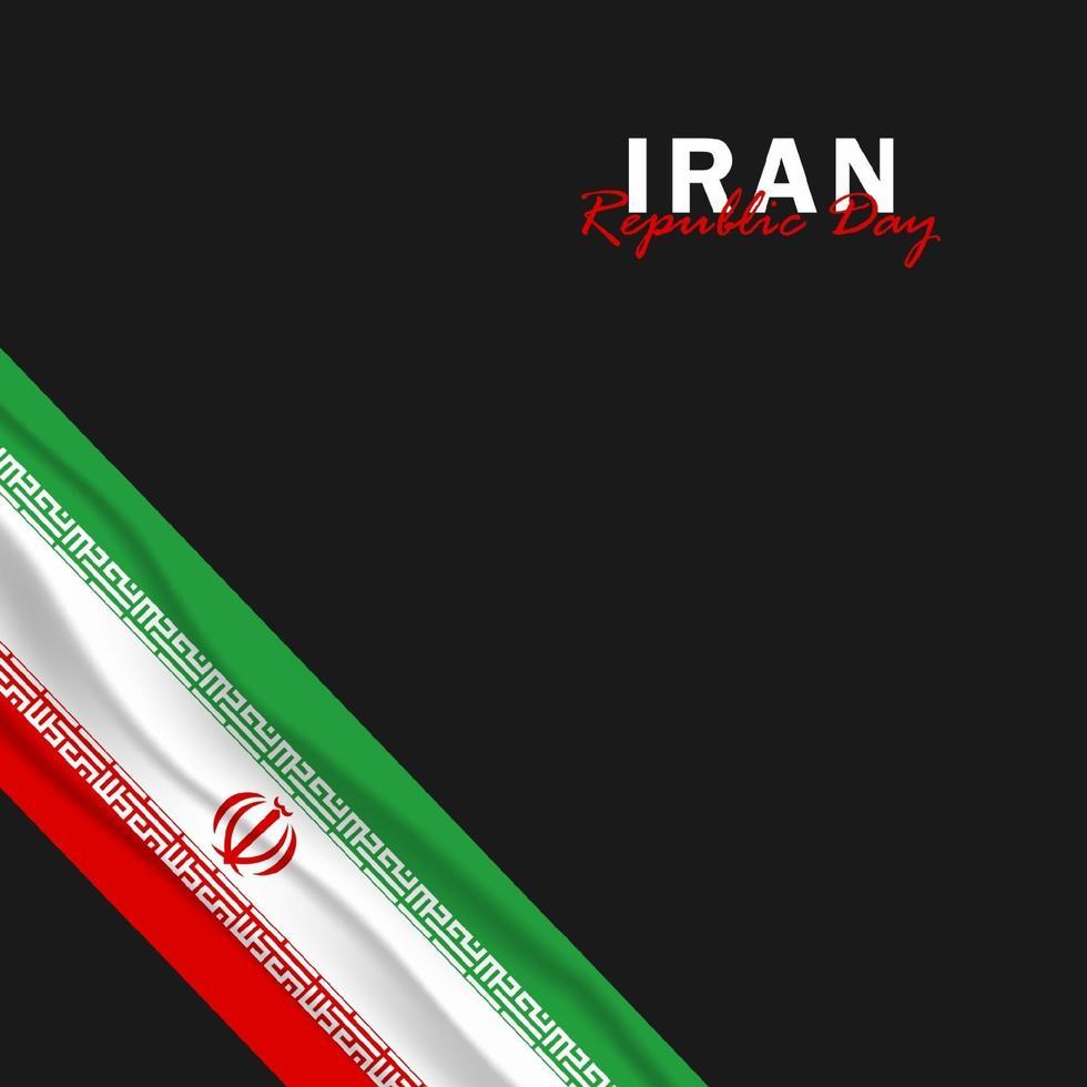 vettore della festa della repubblica con bandiere iran. celebrazione della festa della repubblica iraniana.