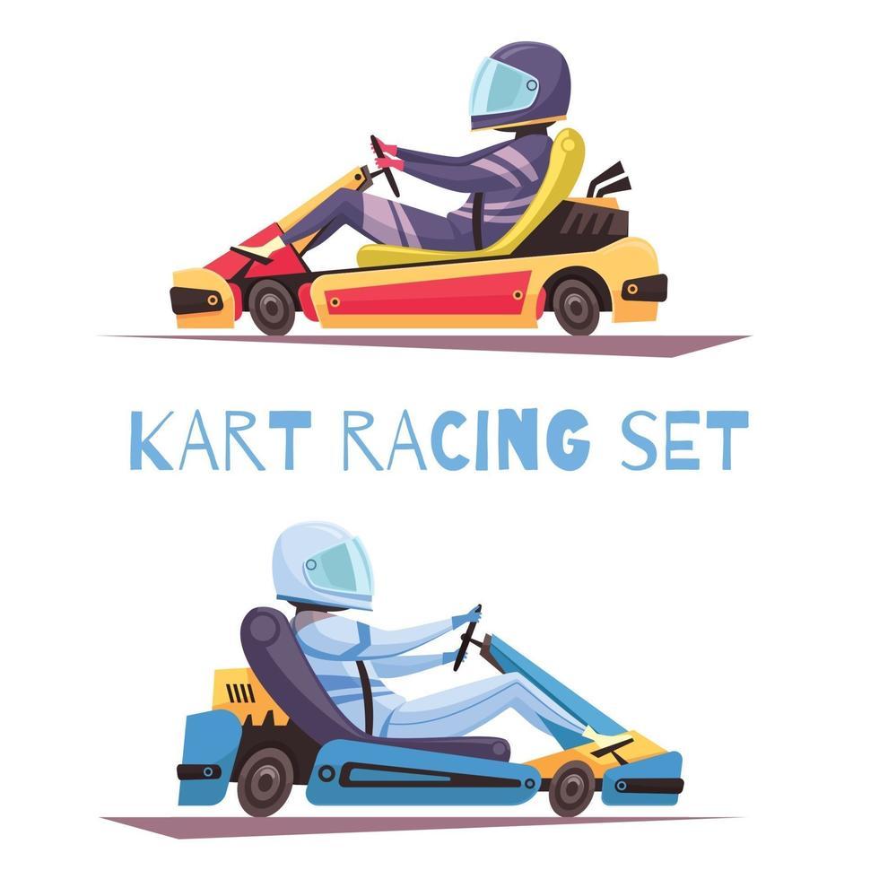 karting design concept illustrazione vettoriale