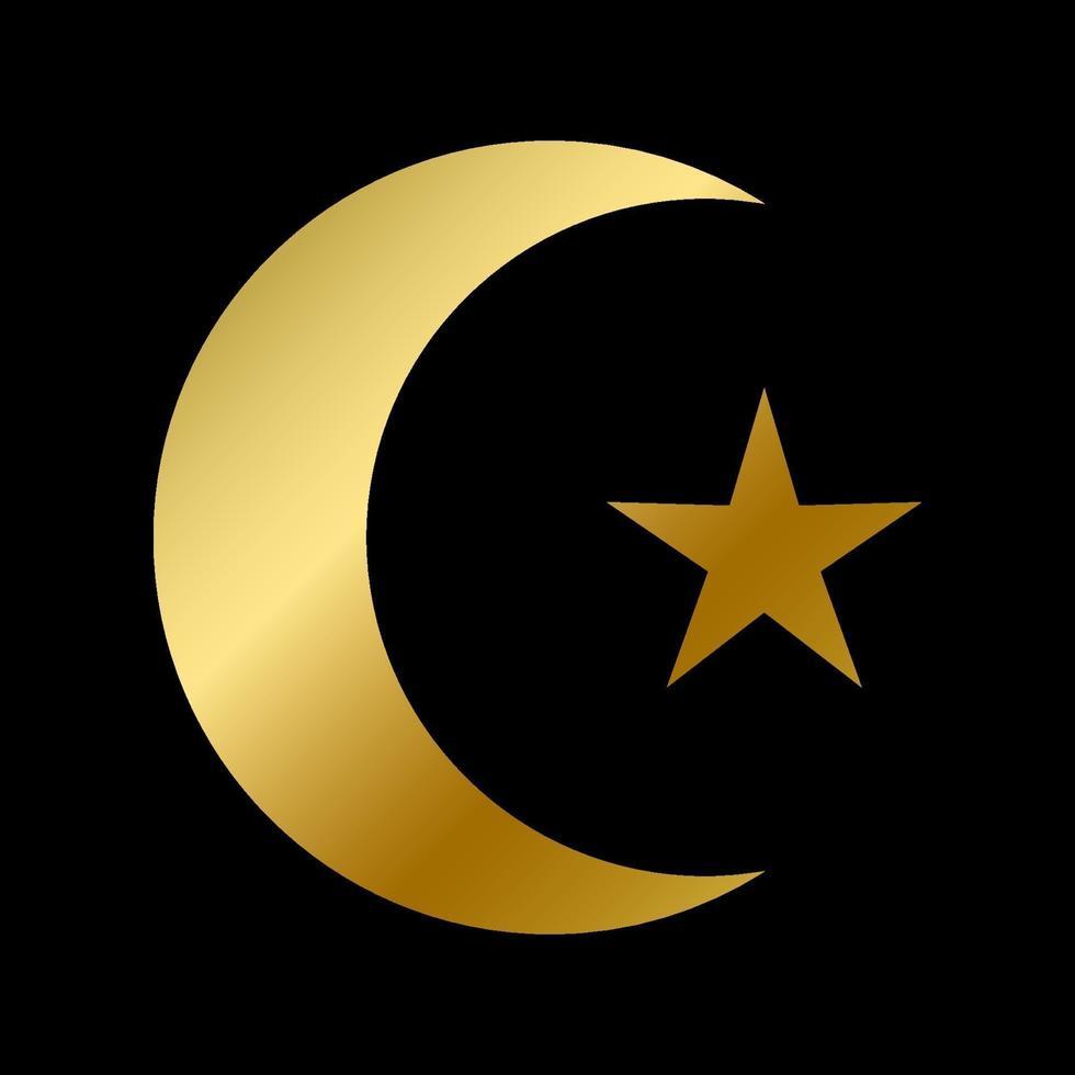 simbolo di fede islamica isolato segno religioso di islam vettore