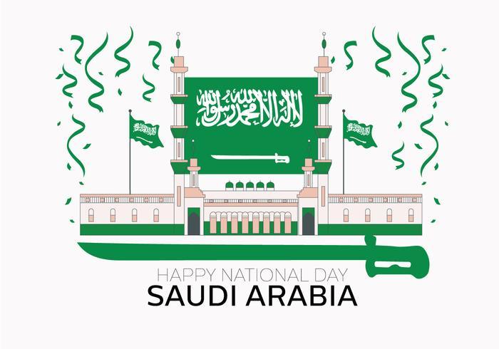 vettore di giorno nazionale saudita