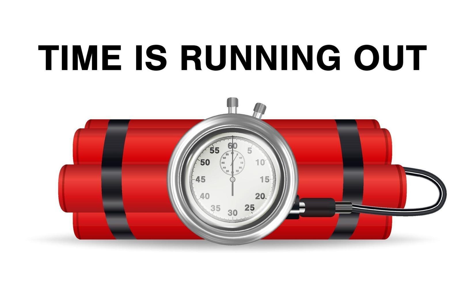 bomba a orologeria con dinamite rossa e cronometro vettore