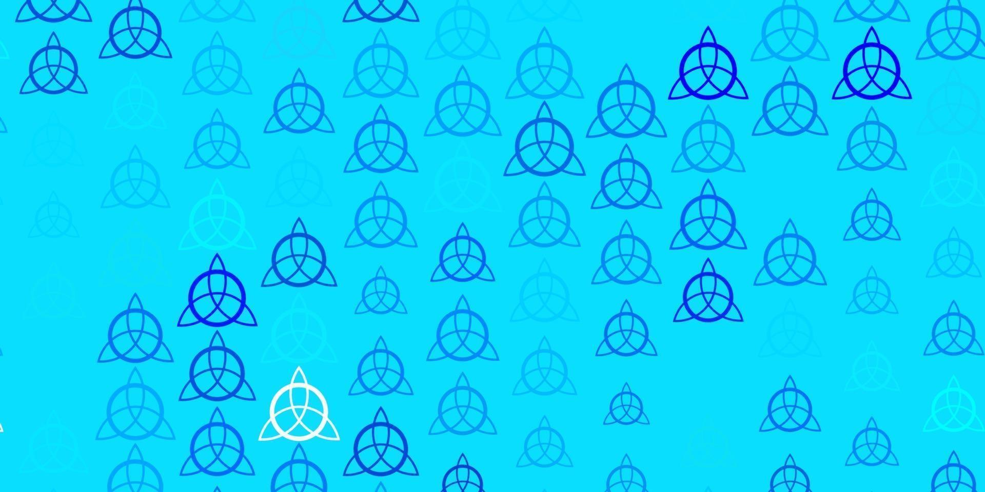 modello vettoriale rosa chiaro, blu con elementi magici.