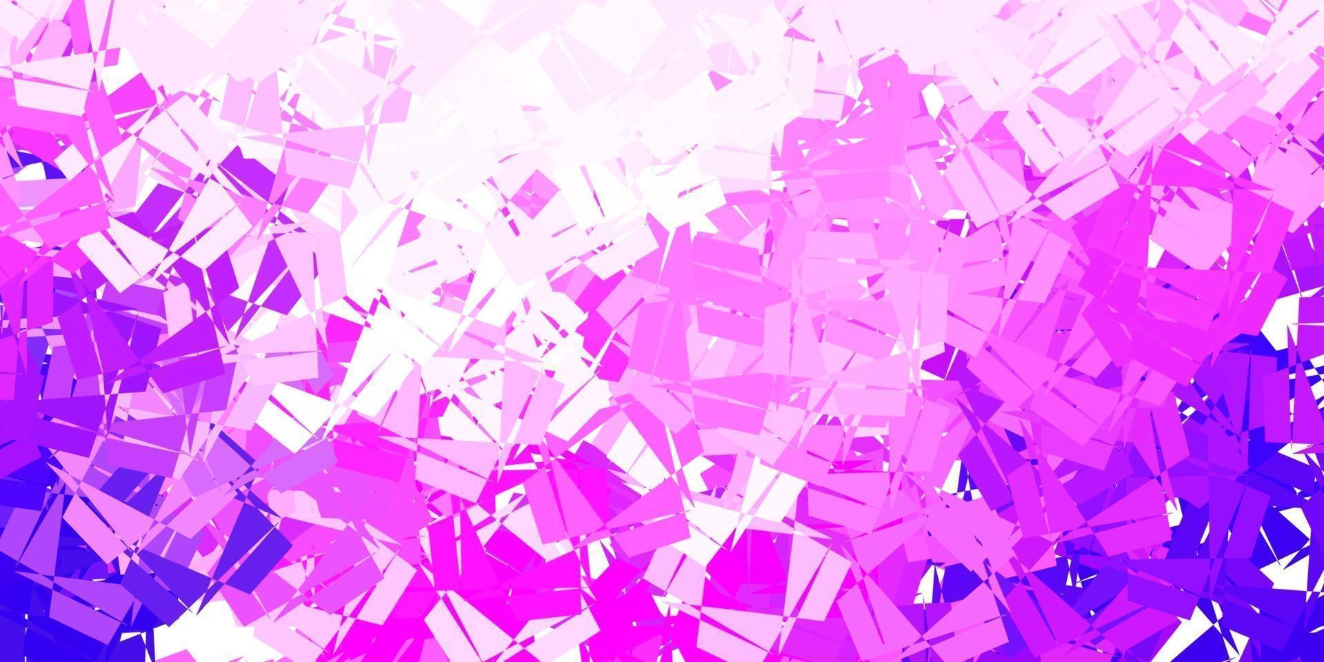 carta da parati a mosaico triangolo vettoriale viola chiaro, rosa.