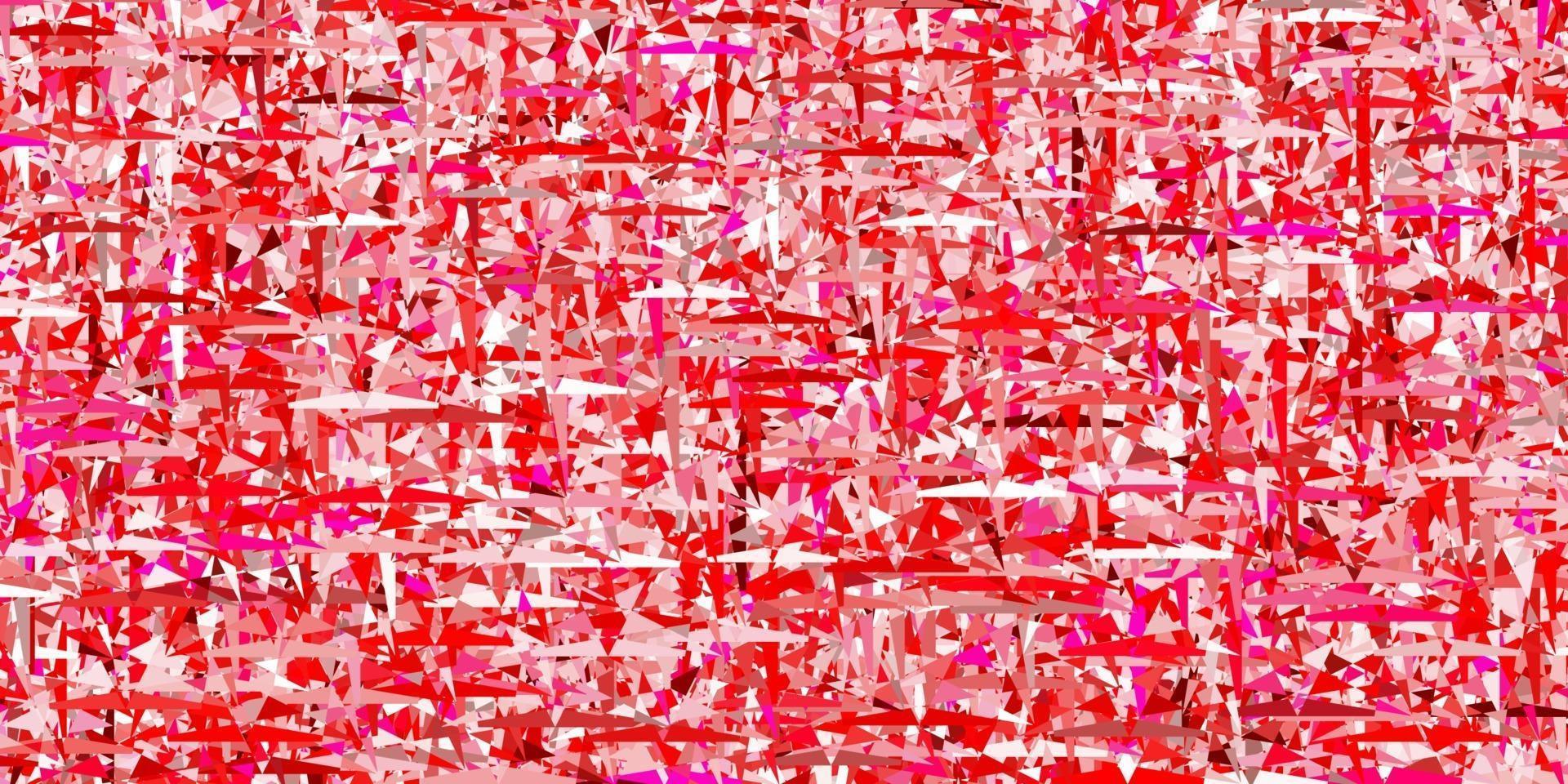 modello vettoriale rosa chiaro con cristalli, triangoli.