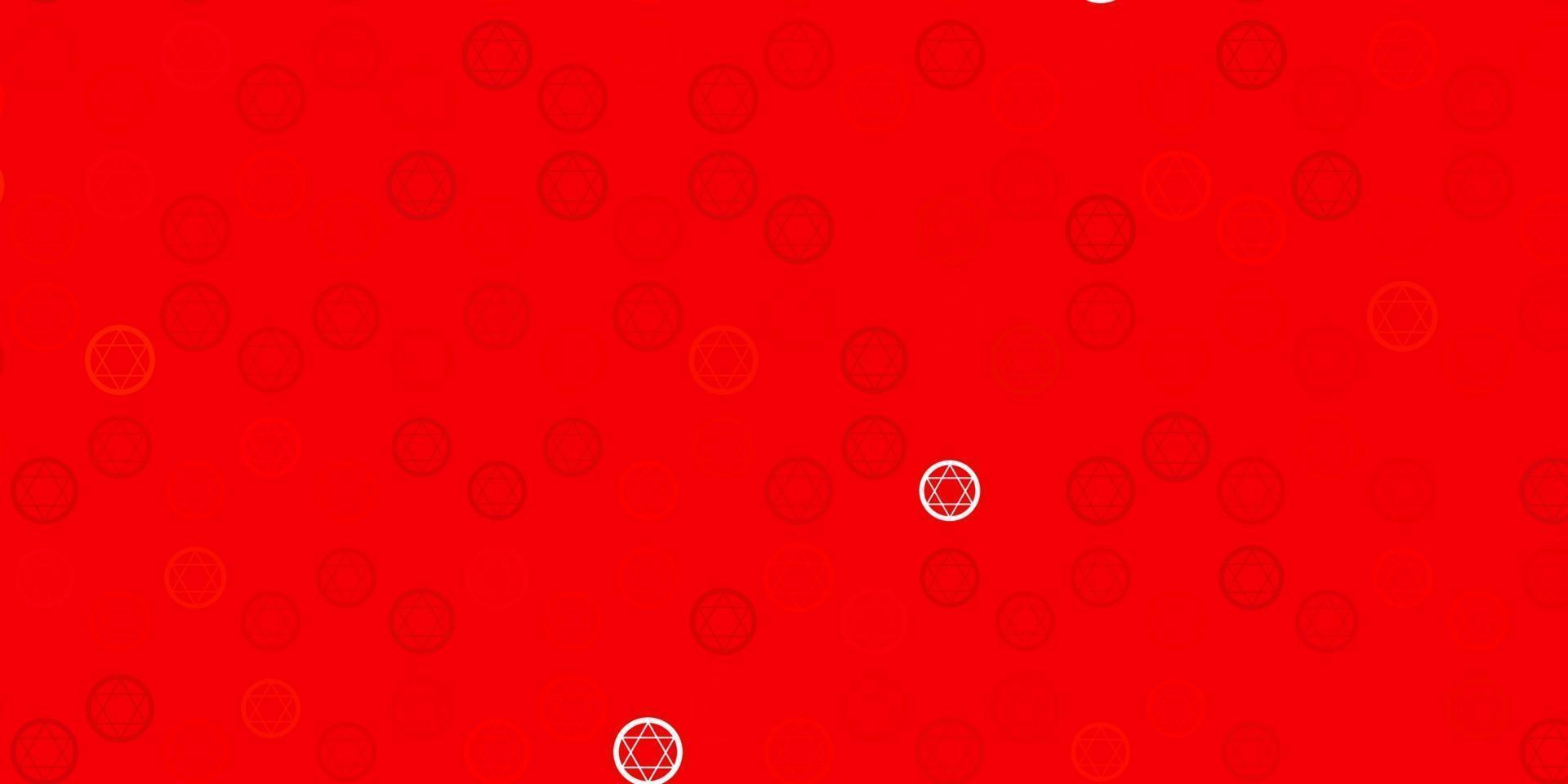 trama vettoriale rosso chiaro con simboli religiosi.