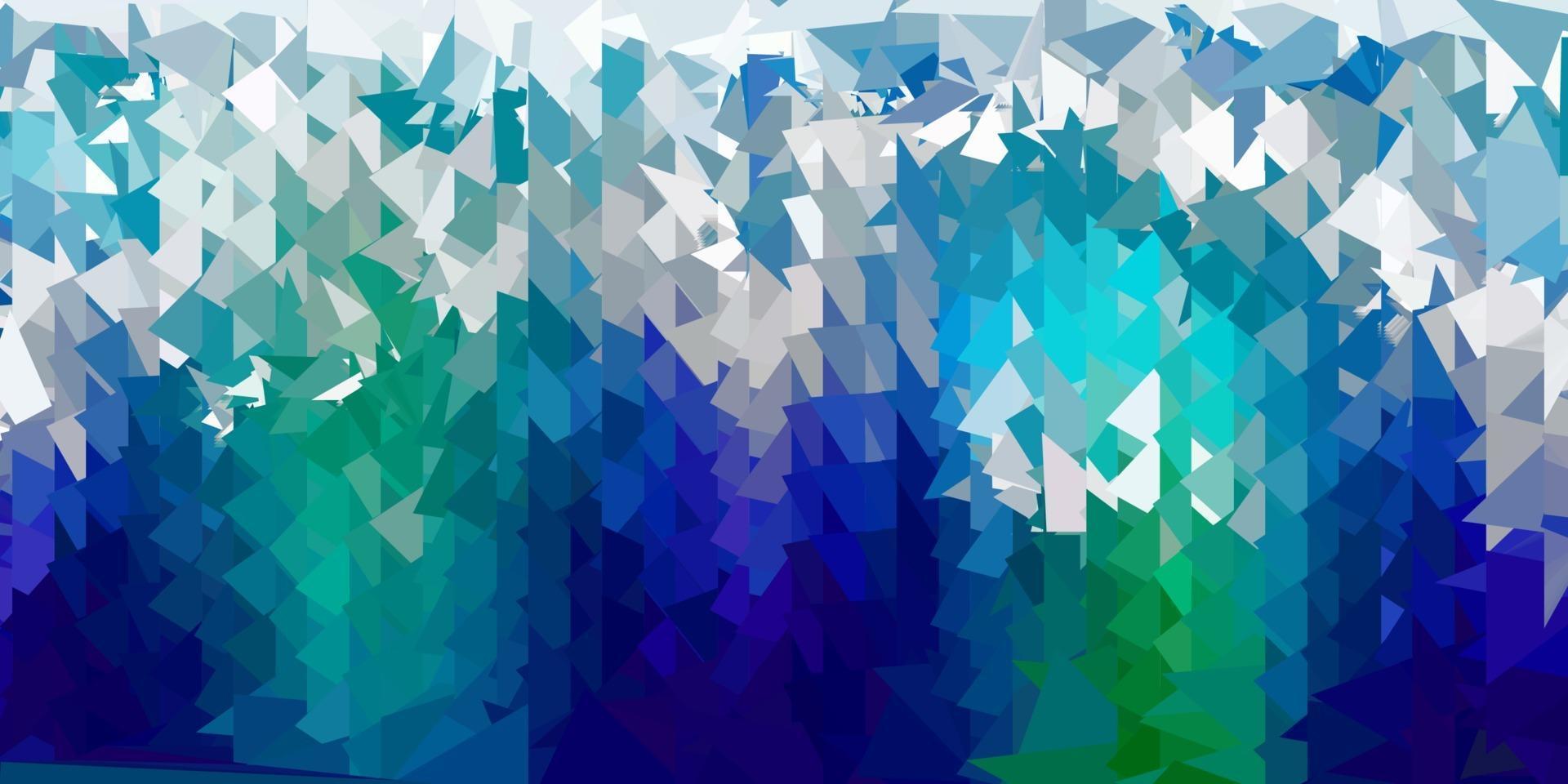layout poligono gradiente vettoriale blu scuro, verde.