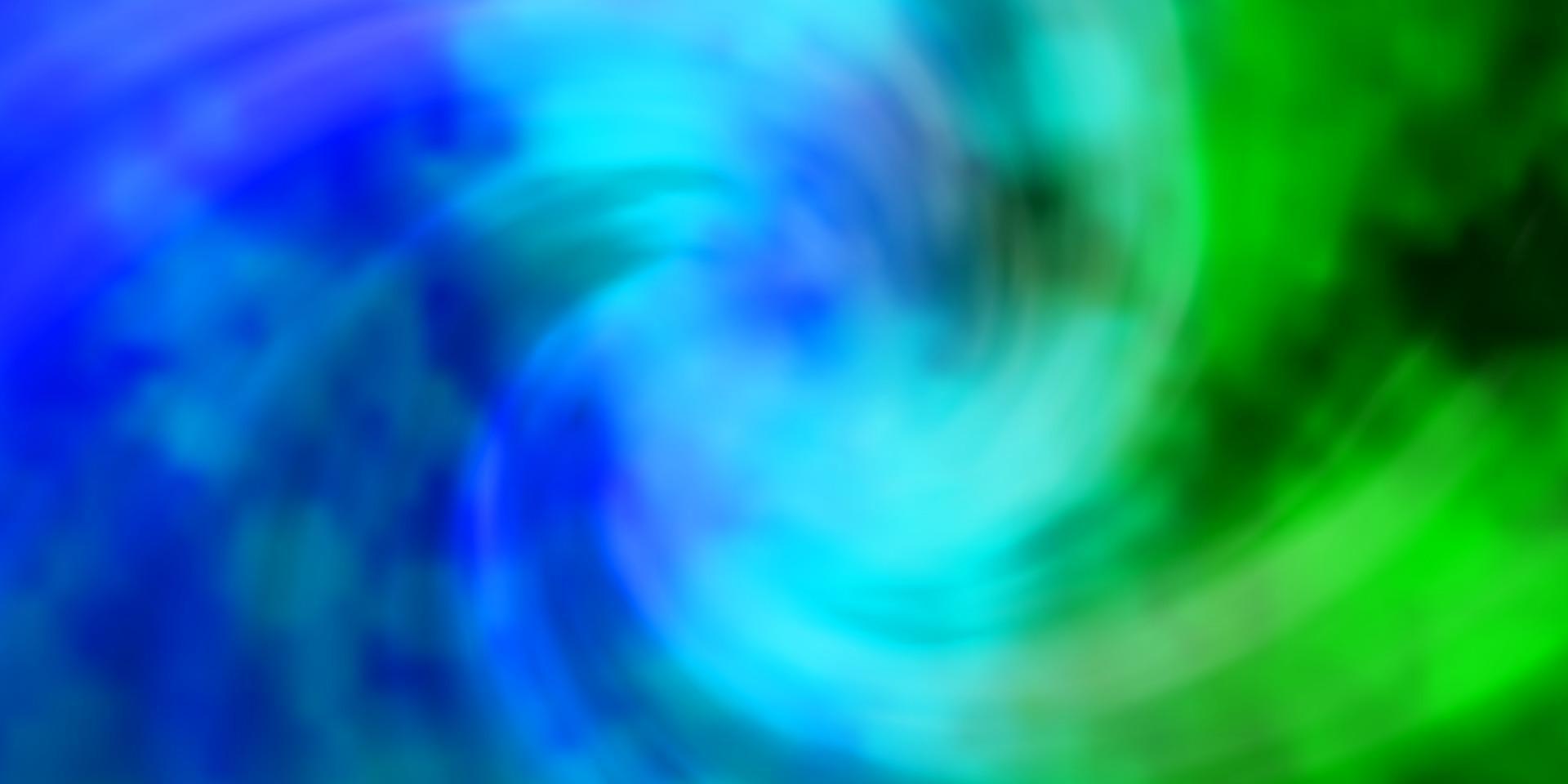 sfondo vettoriale azzurro, verde con nuvole.