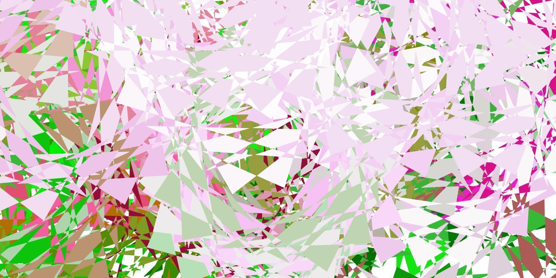 modello vettoriale rosa chiaro, verde con forme poligonali.