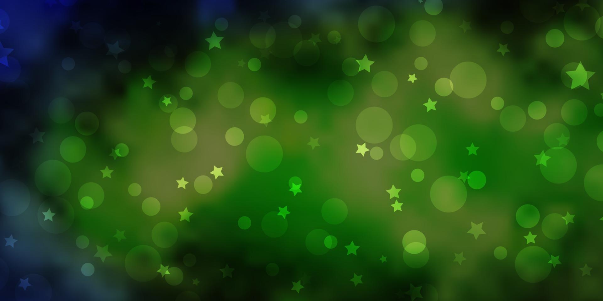 layout vettoriale azzurro, verde con cerchi, stelle.