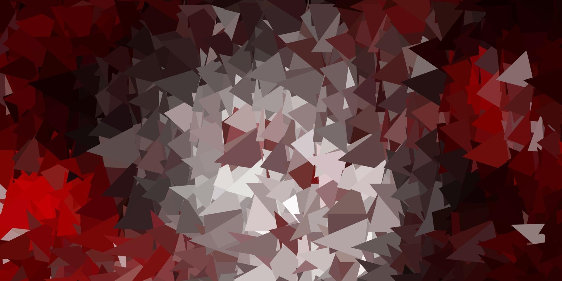 disegno poligonale geometrico di vettore rosa scuro, rosso.