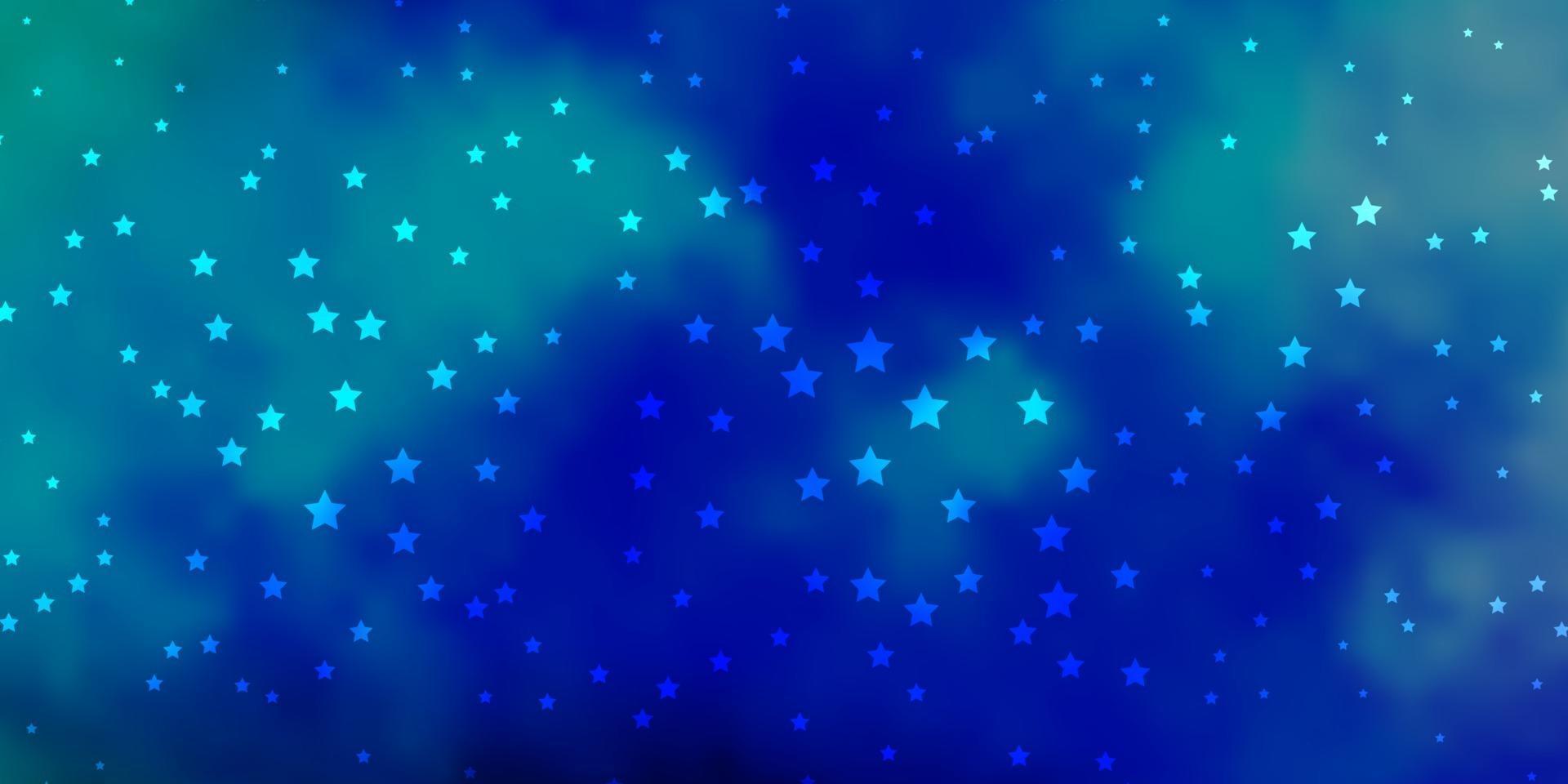 sfondo vettoriale blu scuro, verde con stelle colorate.