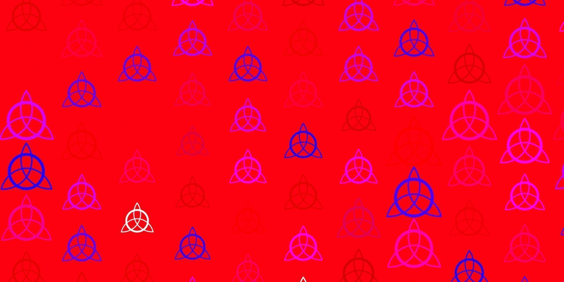 trama vettoriale rosa chiaro, giallo con simboli religiosi.