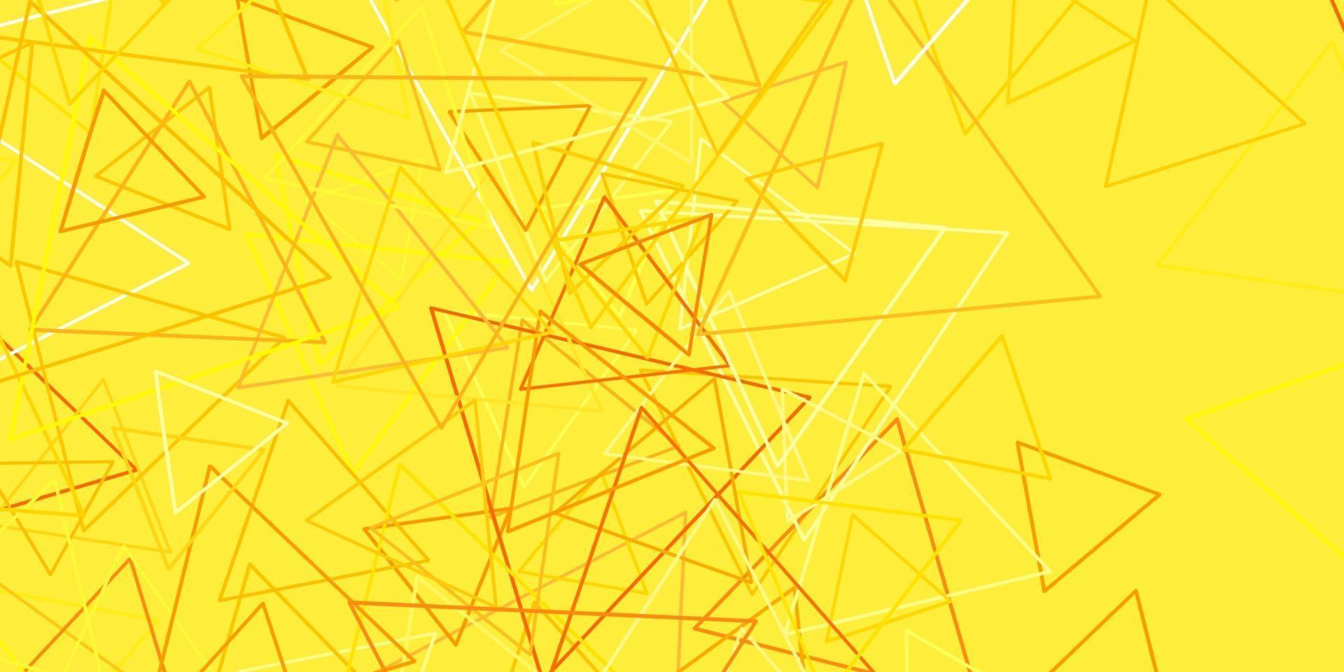 sfondo vettoriale rosa chiaro, giallo con triangoli.