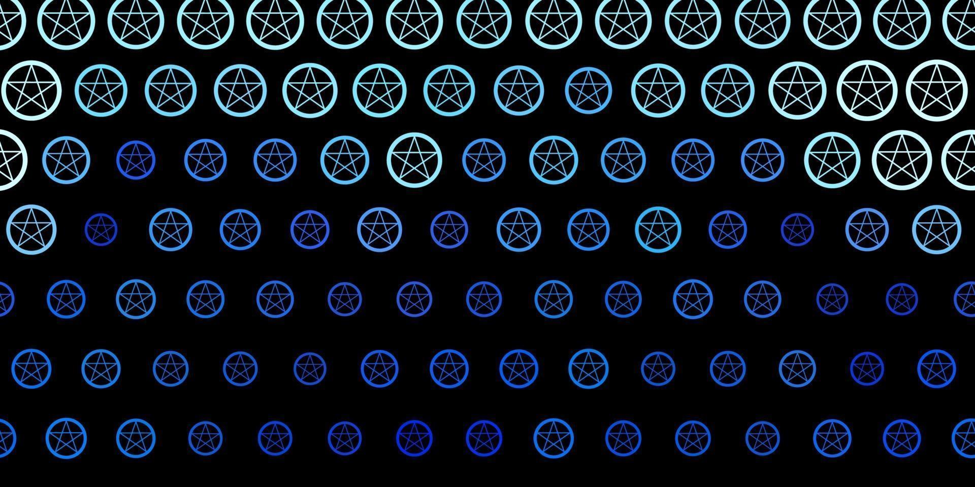 modello vettoriale viola scuro con segni esoterici.