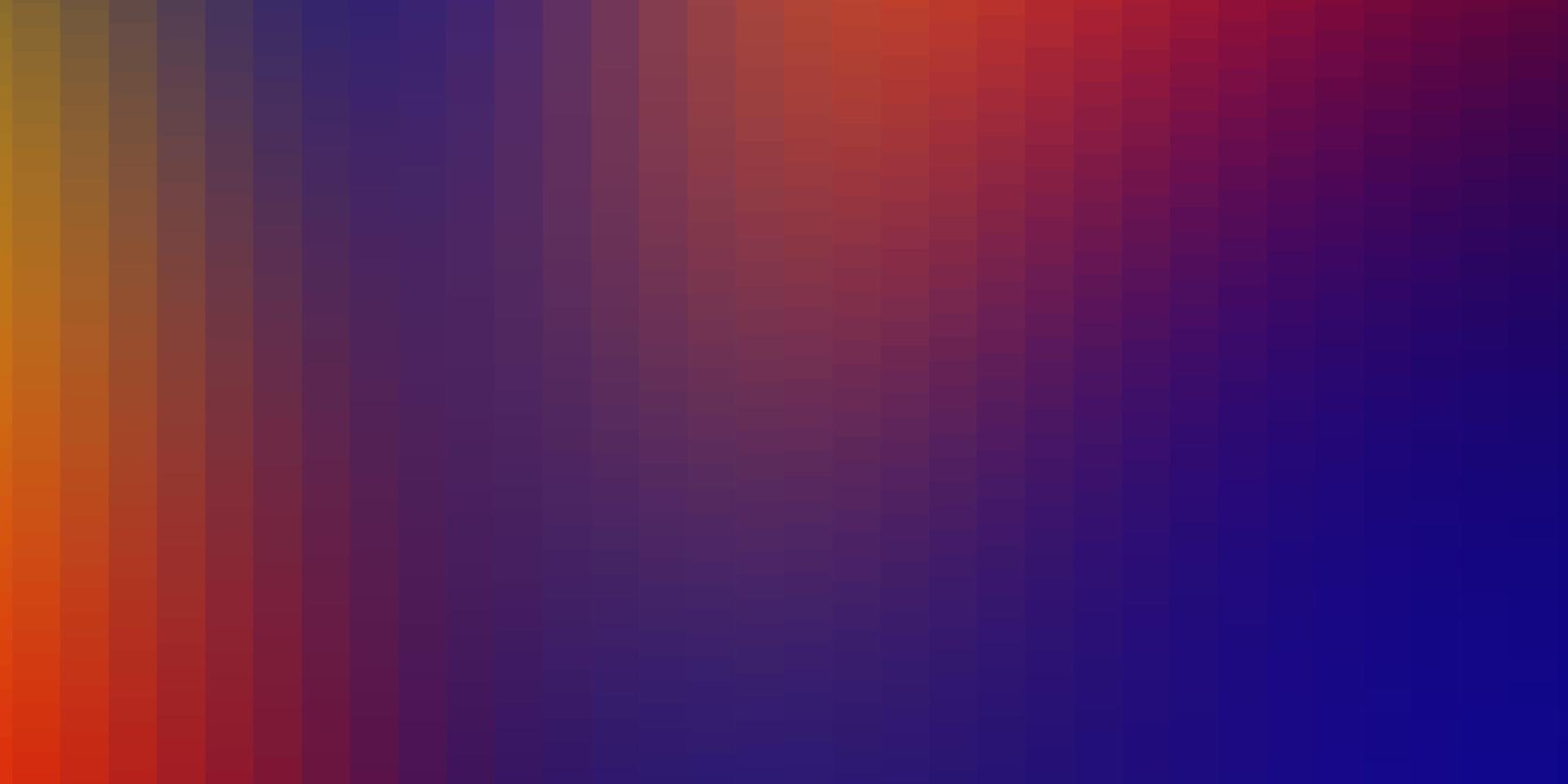 trama vettoriale blu scuro, rosso in stile rettangolare.