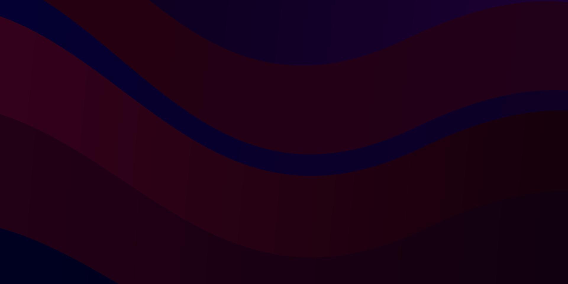 modello vettoriale blu scuro, rosso con linee.