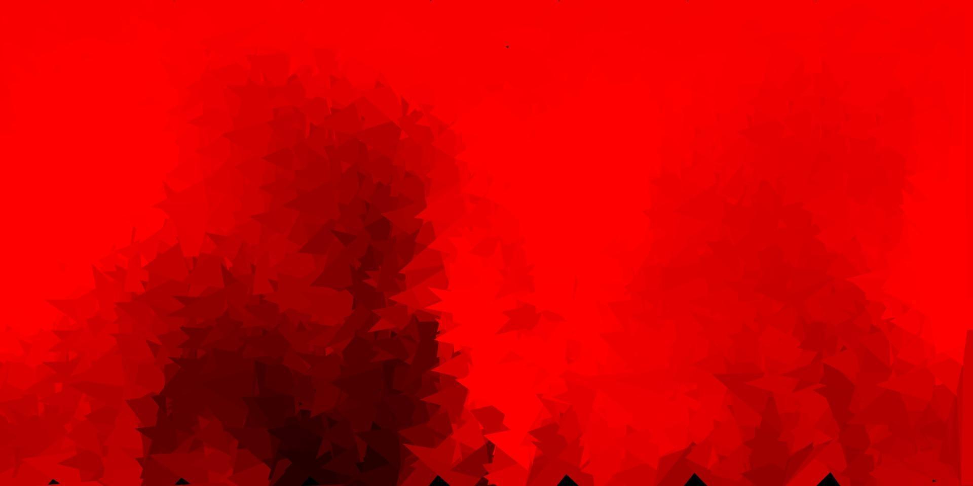sfondo poligonale vettoriale rosso scuro.