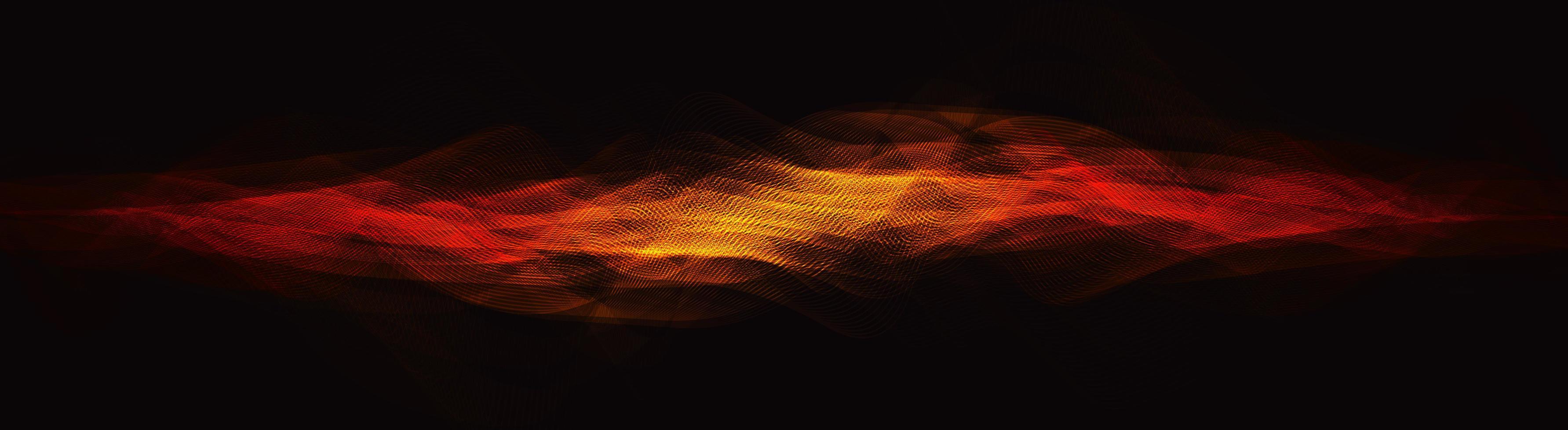 fiamma digitale onda sonora su sfondo marrone, concetto di onda tecnologica, design per studio musicale e scienza, illustrazione vettoriale. vettore