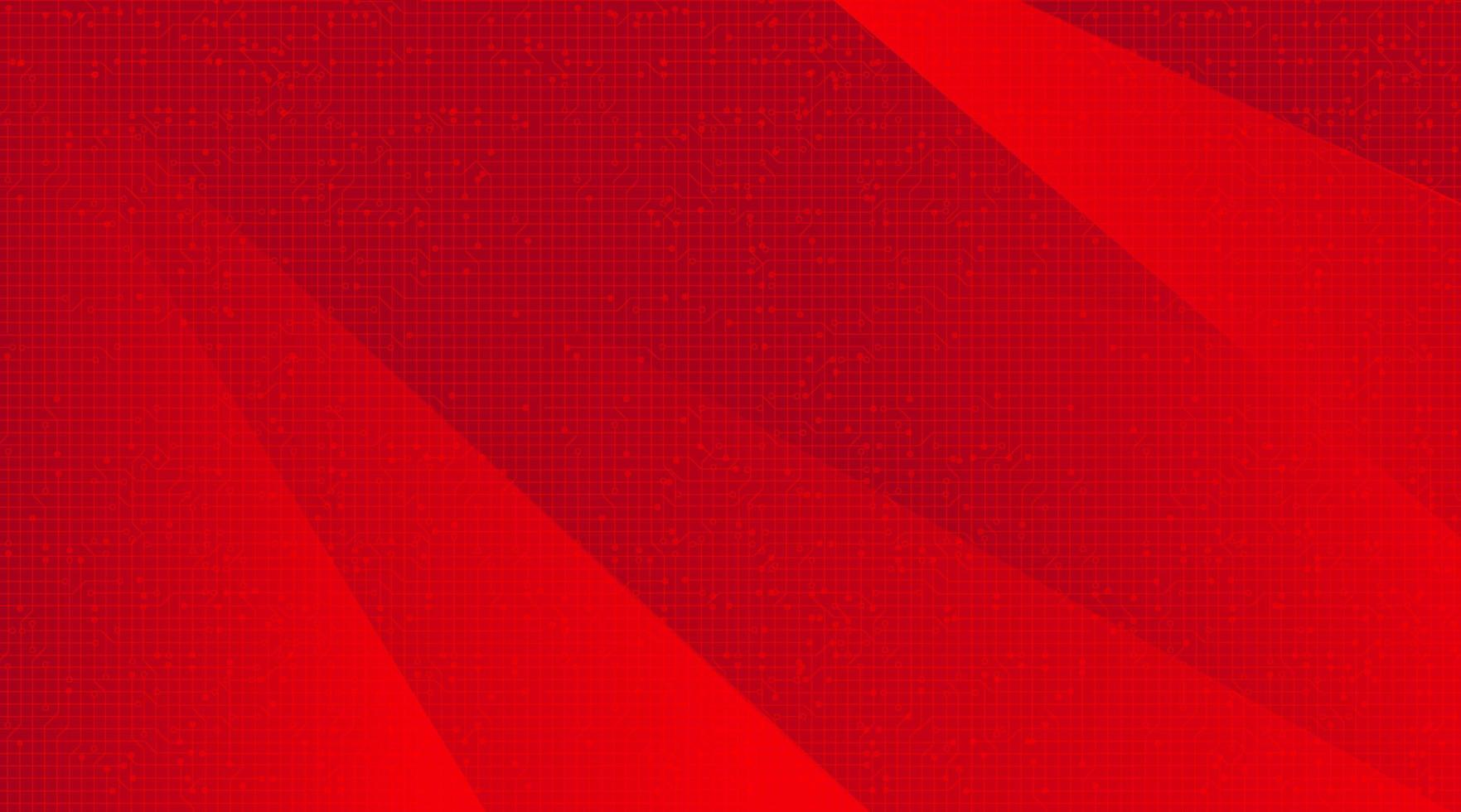 moderna tecnologia rossa sfondo, digitale e concept design di connessione, illustrazione vettoriale. vettore