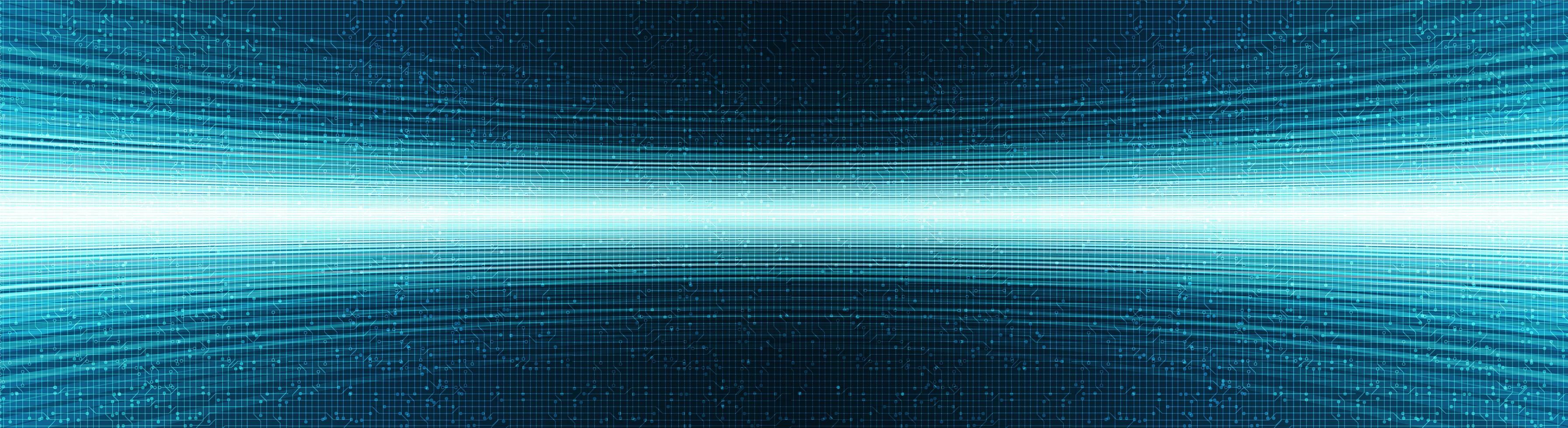 panorama di sfondo tecnologia luce blu, concept design digitale e internet, illustrazione vettoriale. vettore