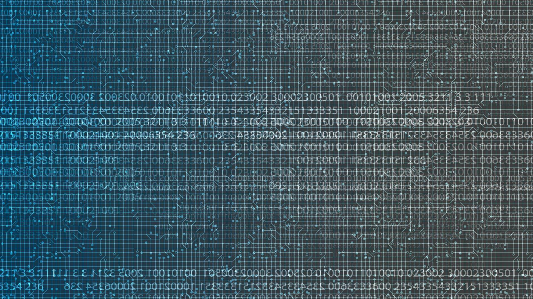 sfondo tecnologia codice digitale, design concept hi-tech digitale e onda sonora, spazio libero per testo in put, illustrazione vettoriale