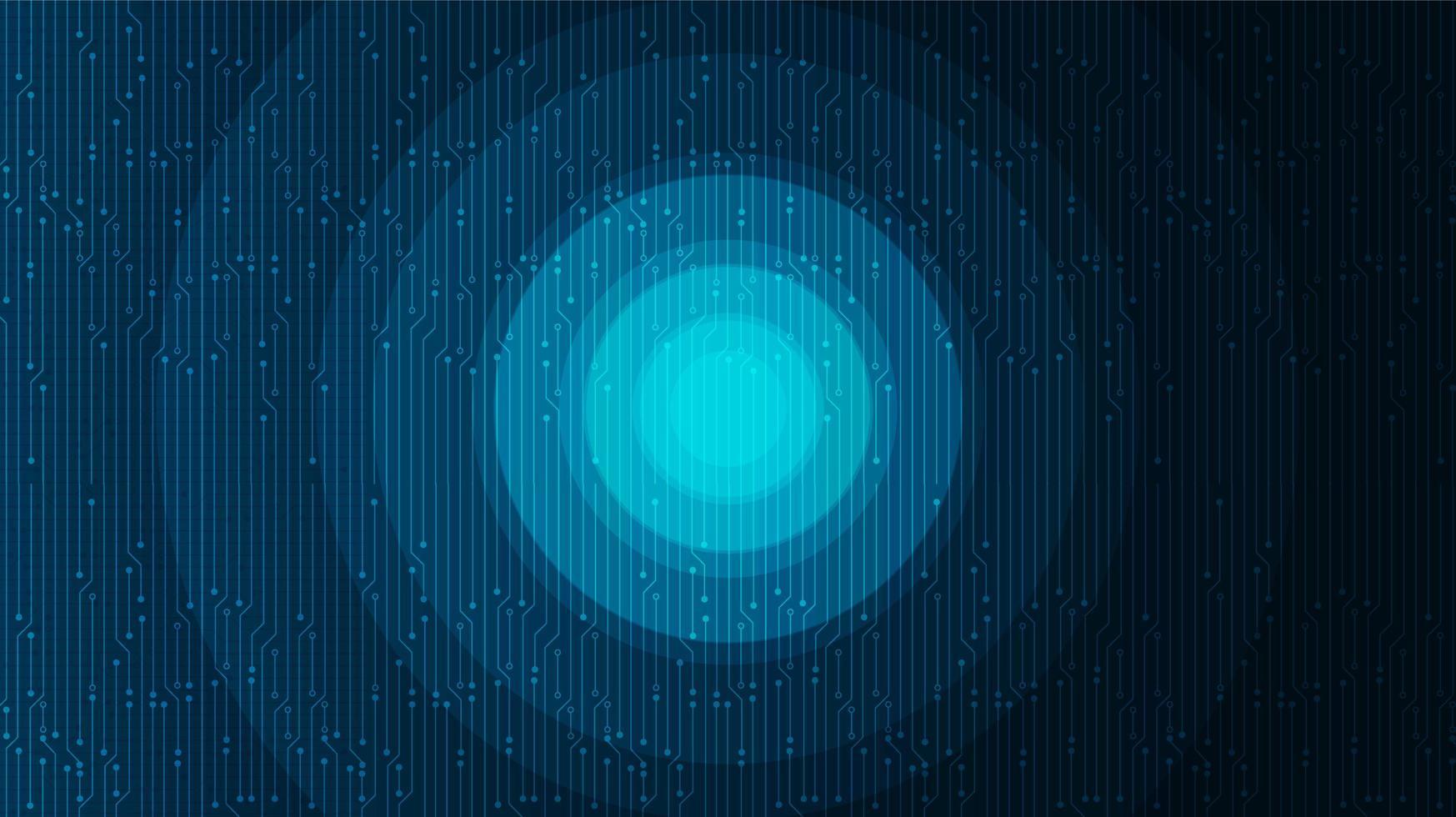 sfondo tecnologia cerchio digitale, design digitale hi-tech e concetto di comunicazione, spazio libero per il testo in put, illustrazione vettoriale