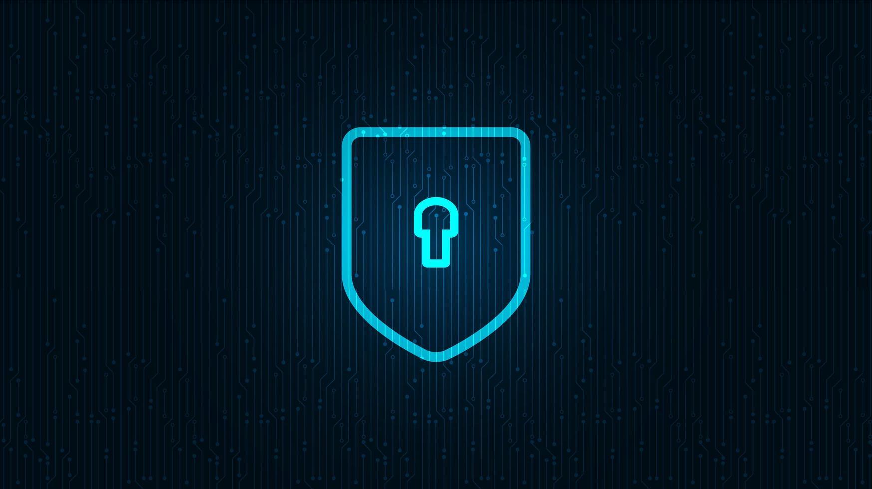 tecnologia di rete scudo sicurezza, protezione e concetto di connessione sfondo design.vector illustrazione. vettore
