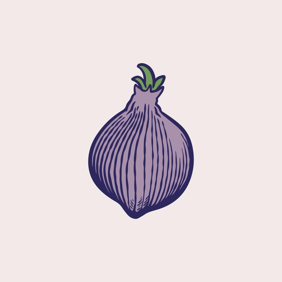 scalogno francese cipolla o allium cepa, aggregatum. icona oggetto disegnato a mano inchiostro mano libera contorno impreciso. cibo sano biologico. verdura verde. illustrazione vettoriale disegnato a mano. stile retrò.
