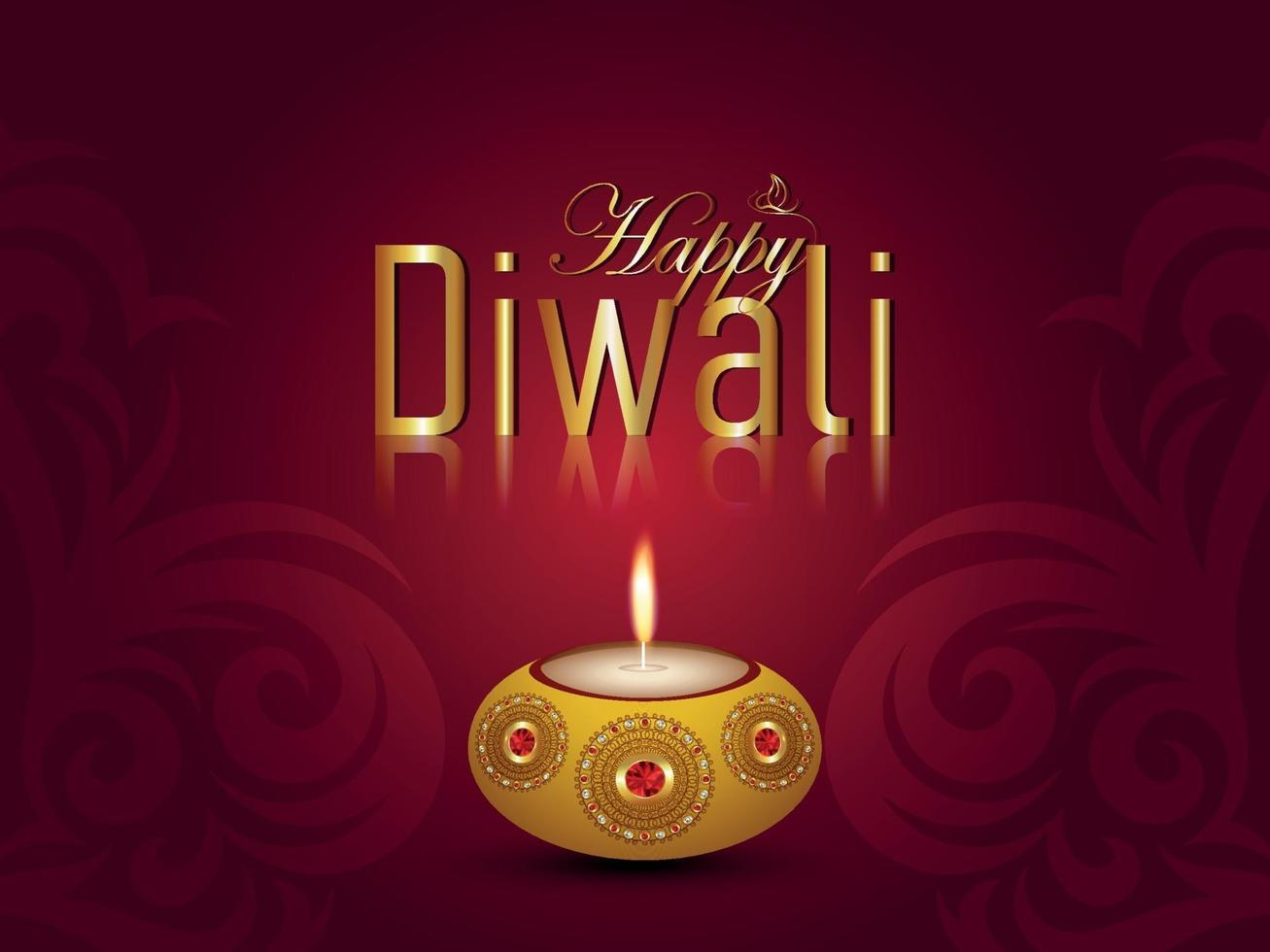 felice festival di diwali di sfondo chiaro vettore
