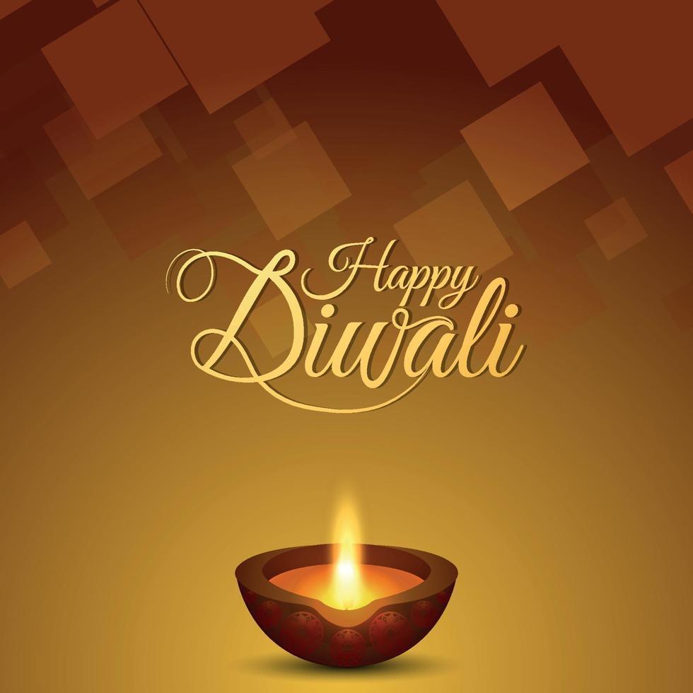 disegno vettoriale felice diwali con illustrazione creativa e backgroud