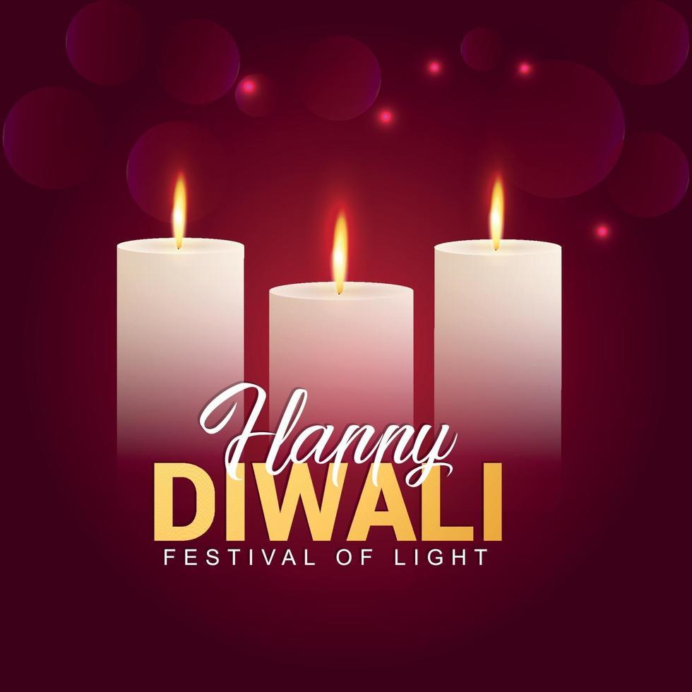illustrazione vettoriale di felice diwali festival dell'india, festival di sfondo celebrazione della luce