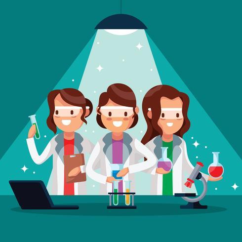 Scienziato femminile vettore