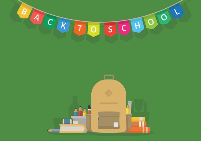 Primo giorno torna a scuola illustrazione per bambini o studenti vettore