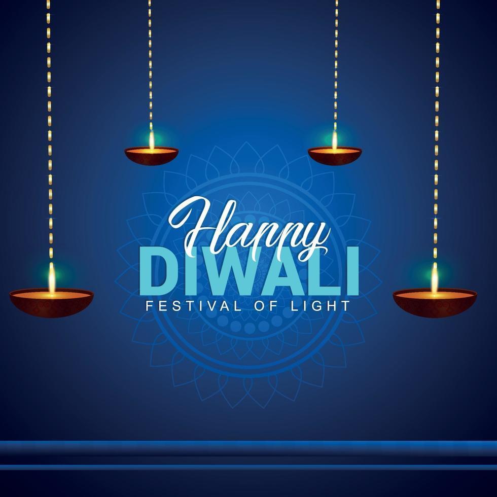 felice festa della luce di diwali vettore