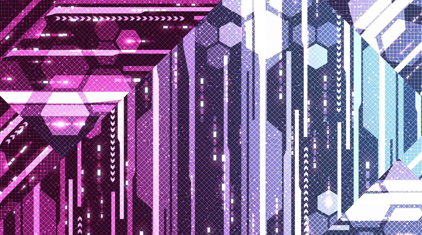 sfondo di tecnologia del sistema di scheda di circuiti digitali, design concept hi-tech e internet, illustrazione vettoriale. vettore