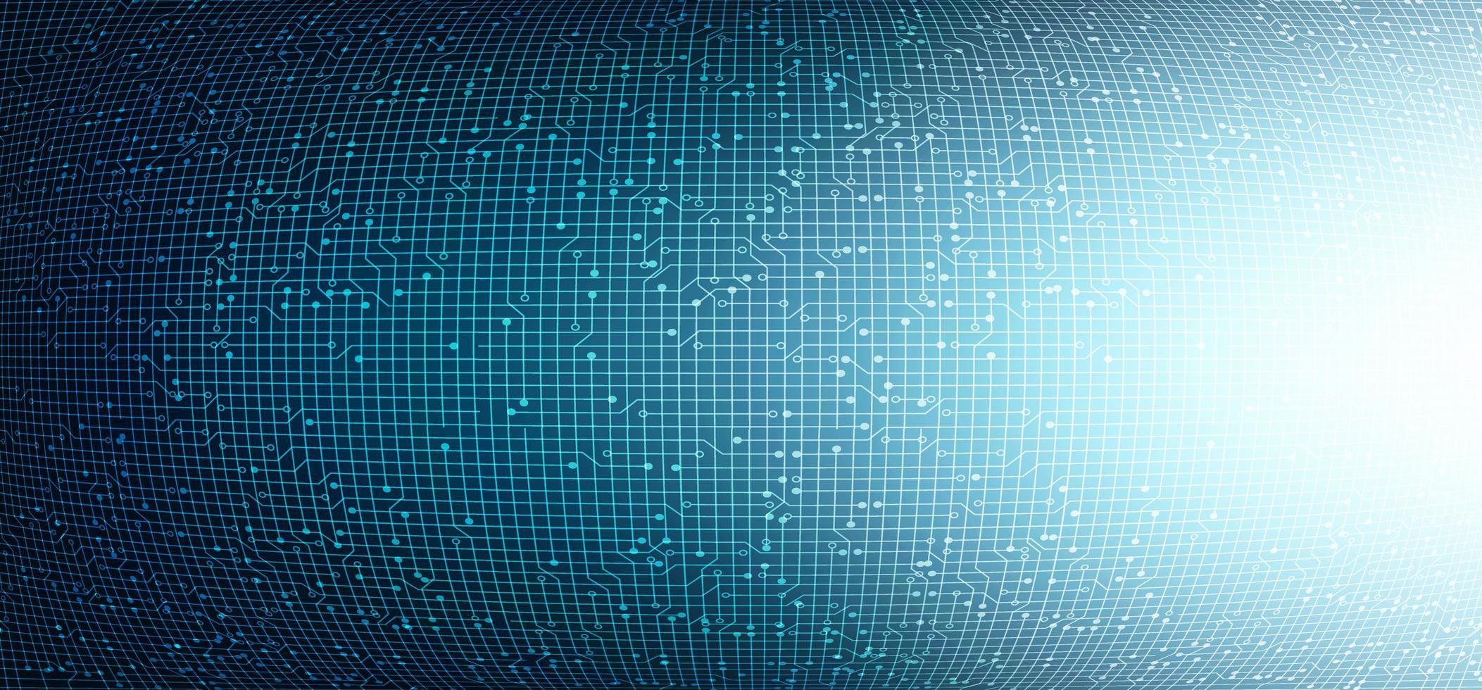 fondo di tecnologia del circuito della luce convessa, progettazione di concetto digitale e di rete hi-tech, illustrazione di vettore. vettore