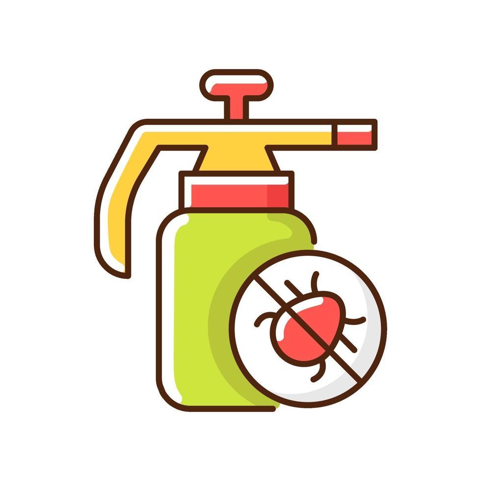 icona di colore rgb di pesticidi vettore