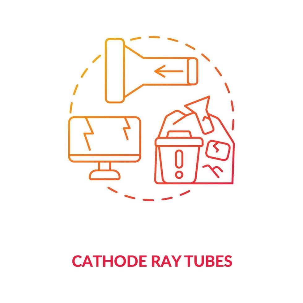 icona del concetto di tubi catodici vettore