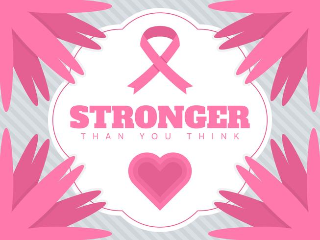 Vettori di mezzi di comunicazione sociale di consapevolezza del cancro al seno bella