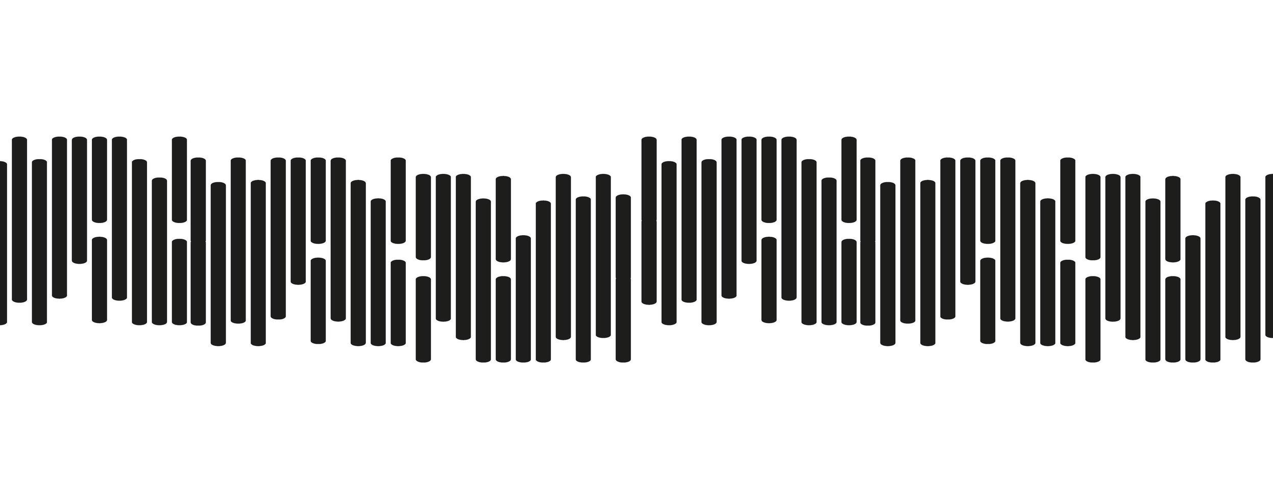 mini linea di onde sonore su sfondo bianco vettore