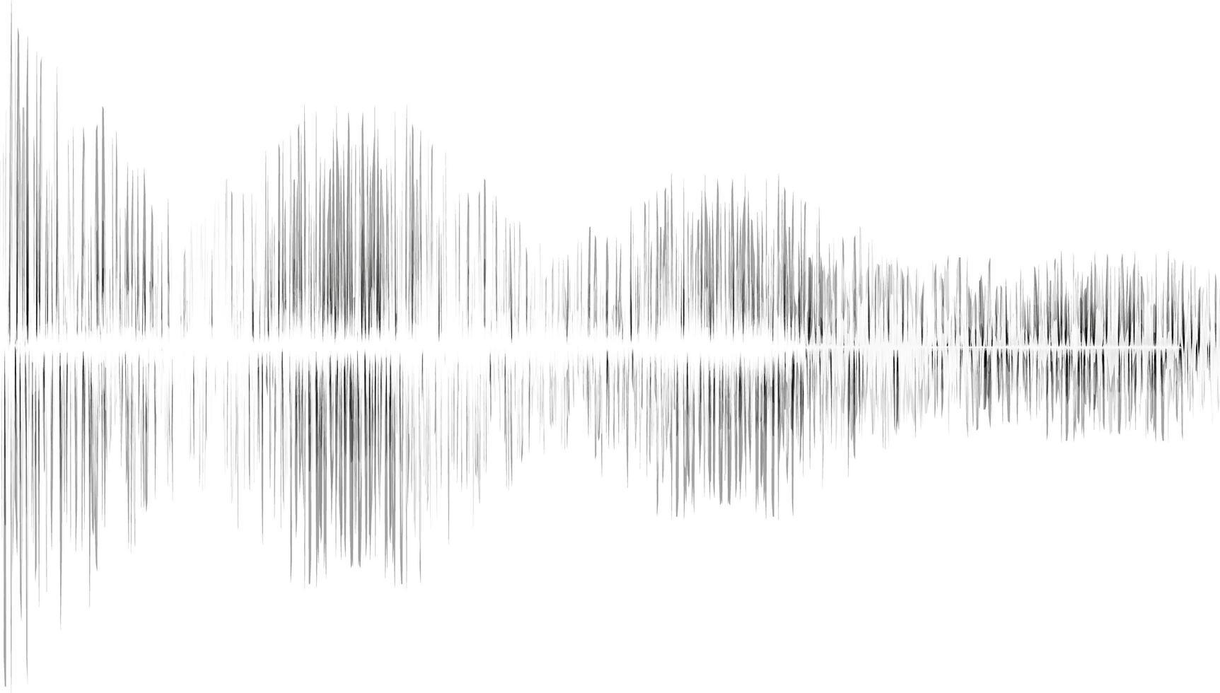 sfocatura dello sfondo nero dell'onda sonora vettore