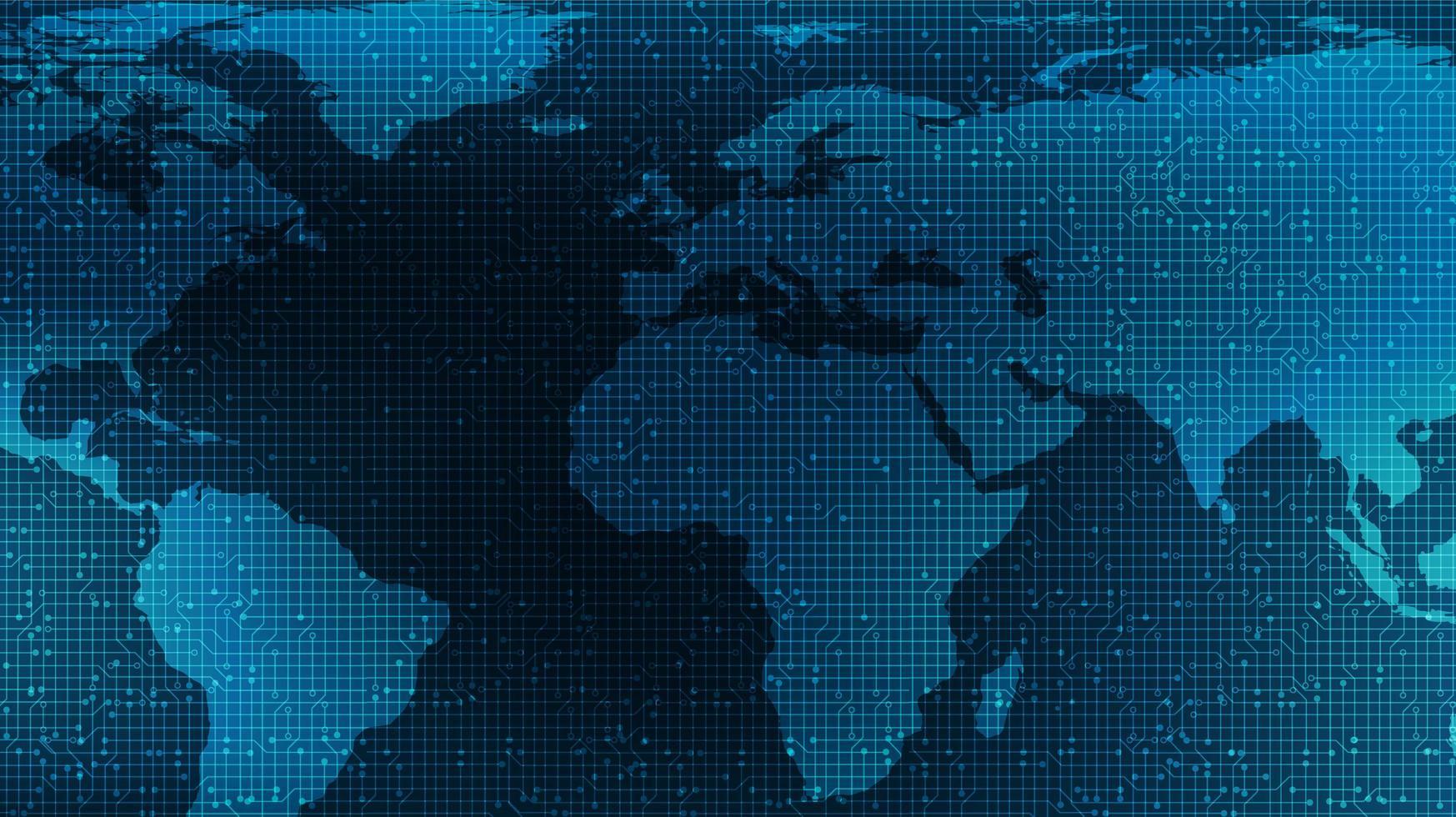 sfondo della tecnologia globale vettore