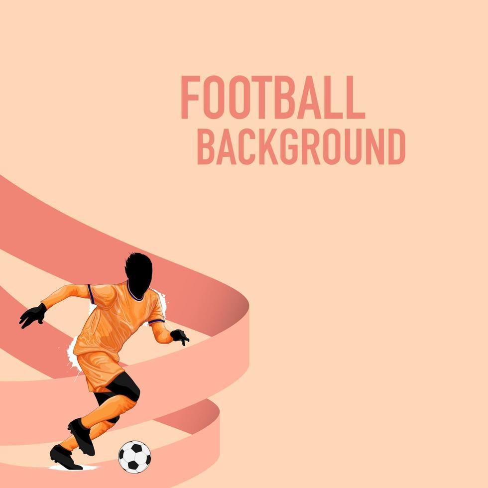 sfondo di sagoma di calcio calcio vettore