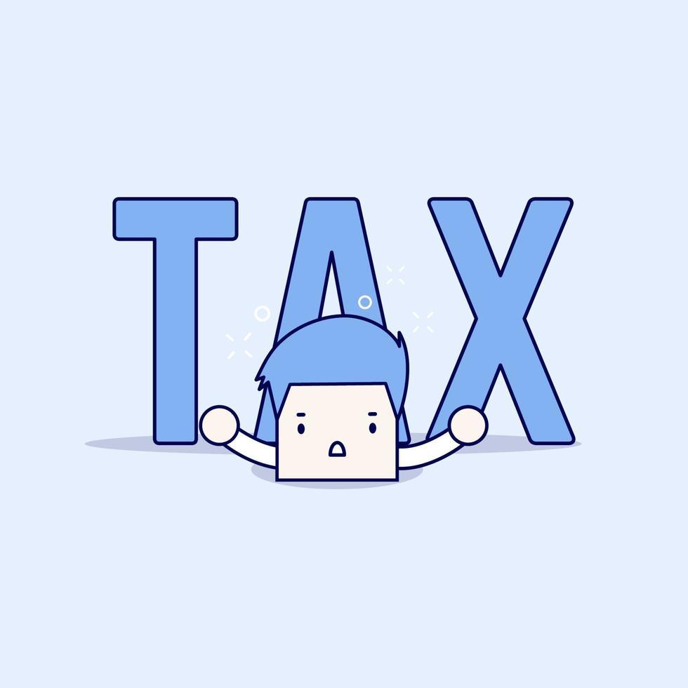 la grande tassa è finita per l'uomo d'affari. vettore di stile di linea sottile personaggio dei cartoni animati.
