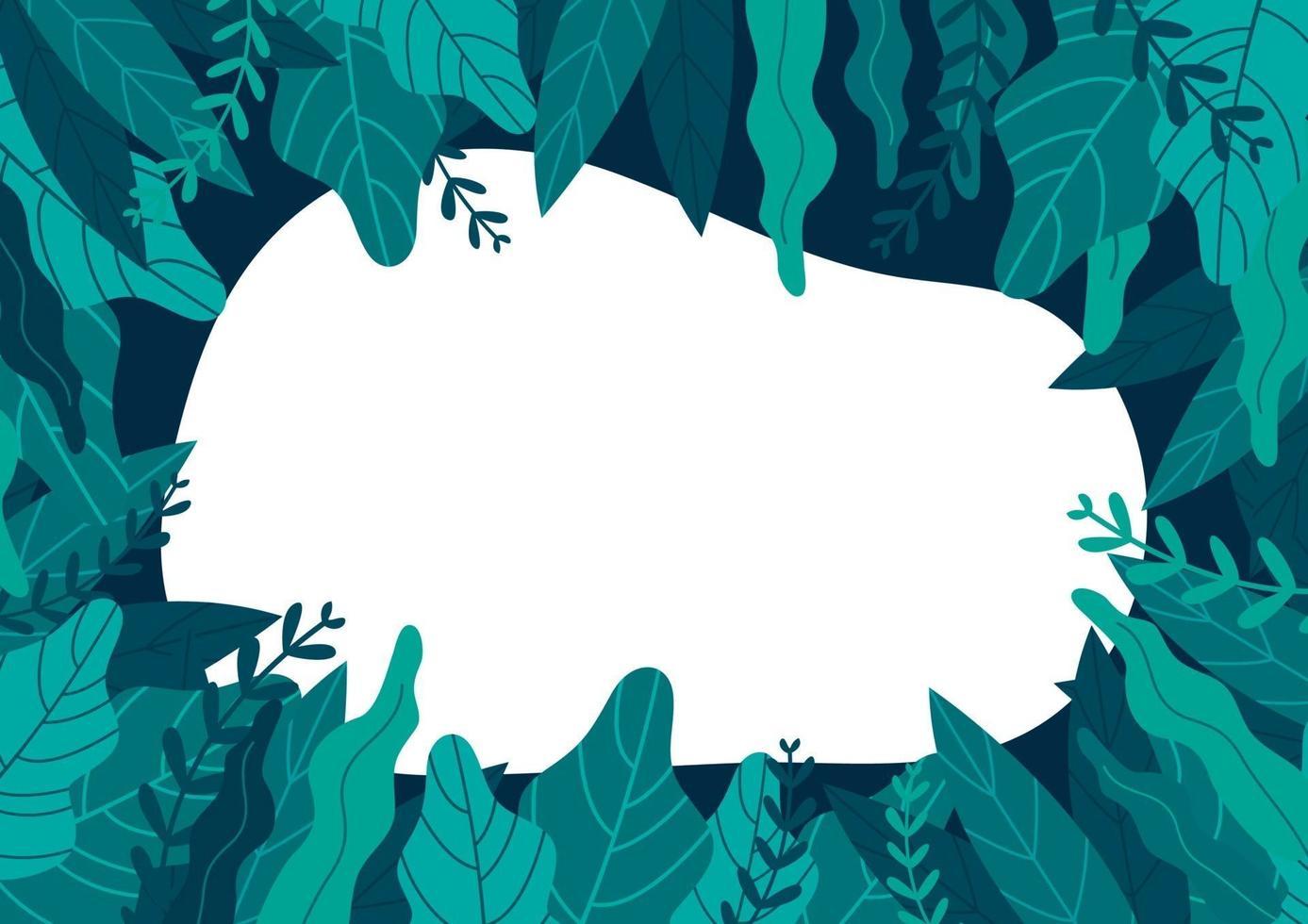 piante verdi e foglie di sfondo con copia spazio per il testo. vettore
