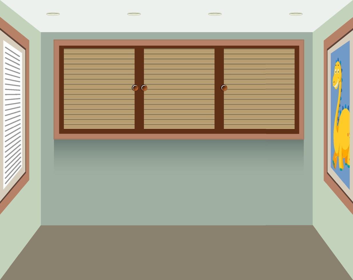uno sfondo di una piccola stanza quadrata vettore