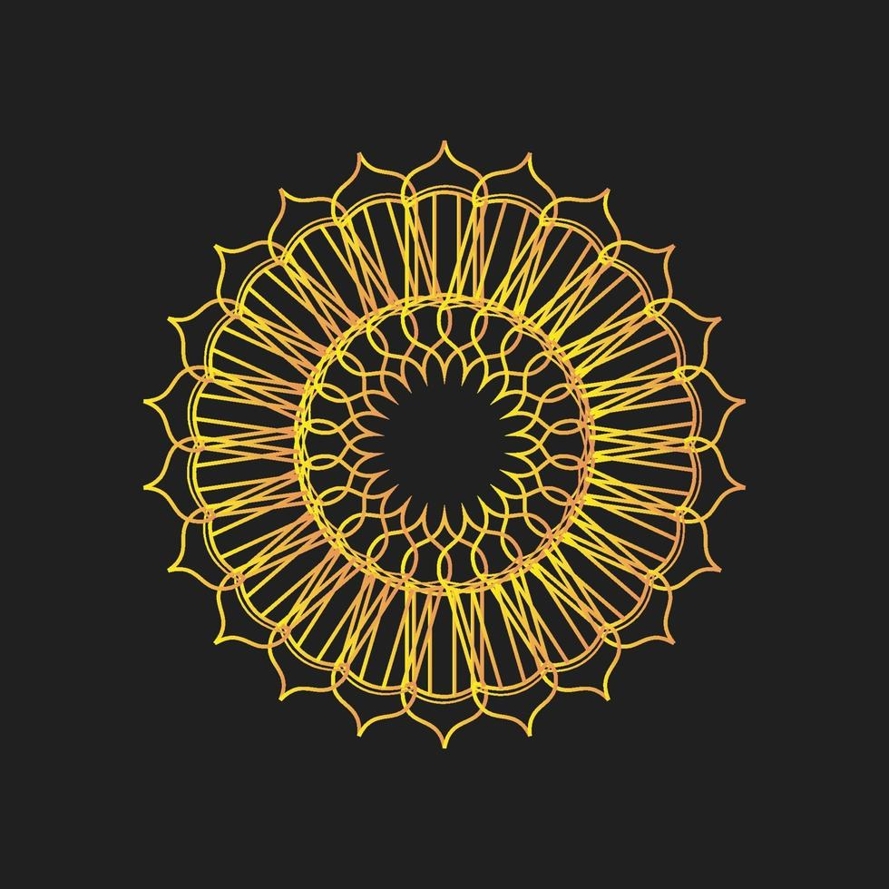 vettore astratto del fiore della lanterna del ramadan islamico