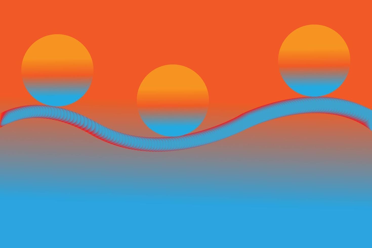 3d astratto miscela sfondo arancione e blu vettore
