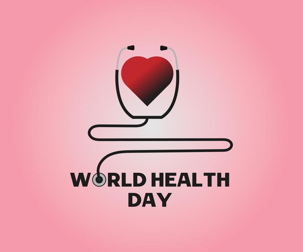 progettazione di vettore astratto di progettazione di giornata mondiale della salute