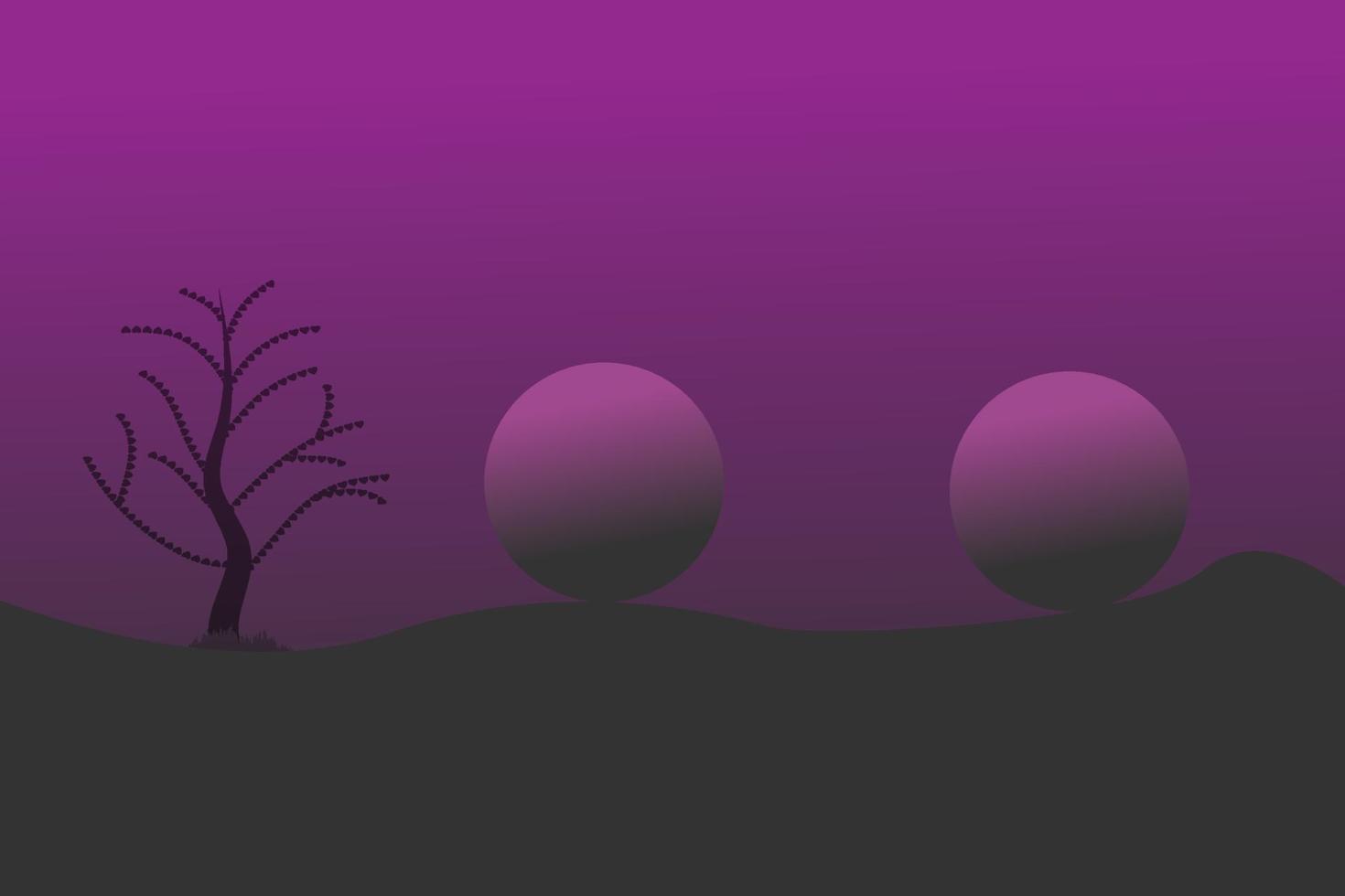 vista notturna sfondo viola disegno vettoriale astratto